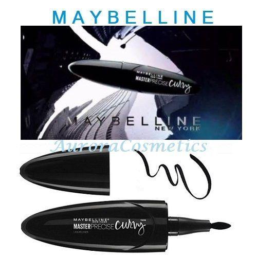 Maybelline Master Precise Curvy Eyeliner 01 Black x 6
