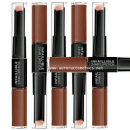 12x L'Oreal Paris Infallible 24HR 2 Step Lipstick 117 Perpetual Brown