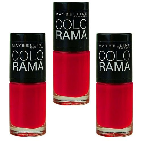 12x Maybelline Colorama Nail Polish 15 Red