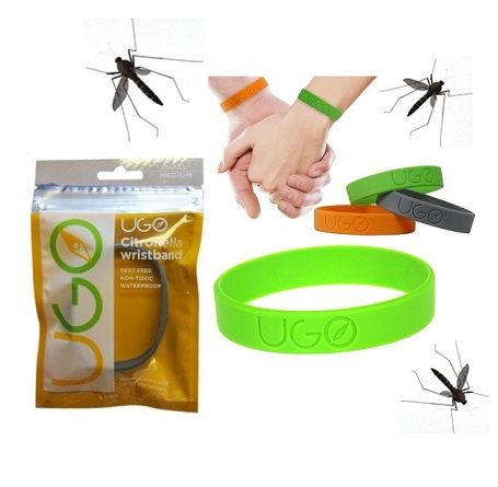 UGO Mosquito & Insect Tick Repellent Wrist Band x 20